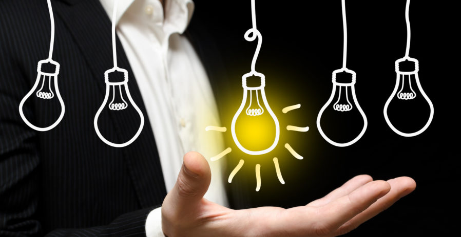 Image of a light bulb indicating a business idea