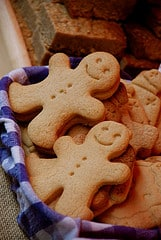 Gingerbread men... they seem very happy