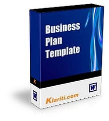 Business Plan Template - Product Box Shot