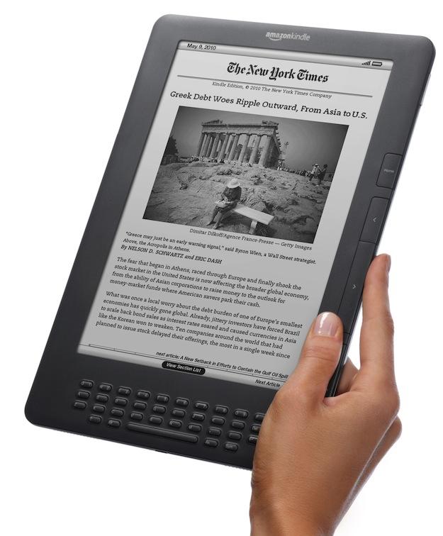 Kindle dx Graphite Angle Hand