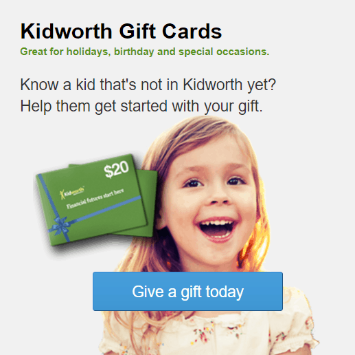 Image of a Kidworth Gift Certificate Card and Cute Child