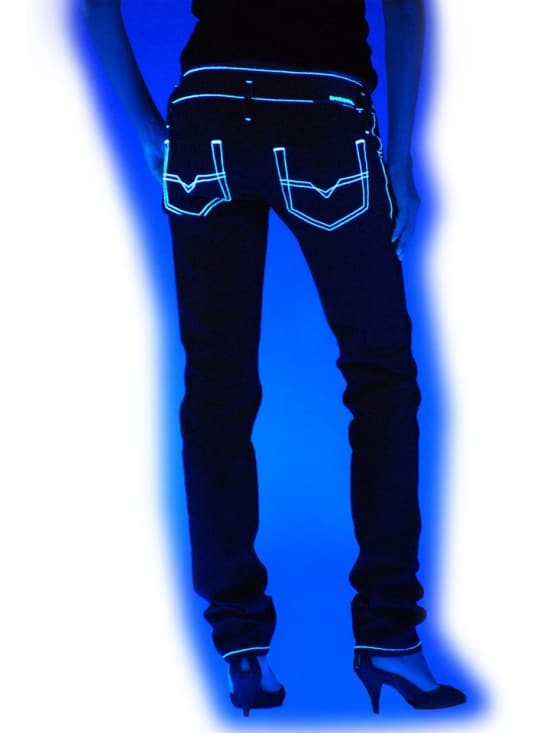 Image of Glow in the Dark Blue Jeans