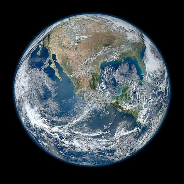 North America From low Orbiting Satellite Suomi npp