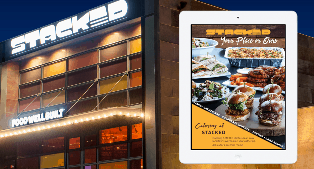 Image of Stacked: Food Well Built's Home Page with iPad Ordering