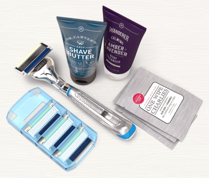 Image of shiny razor blades from the Dollar Shave Club Website