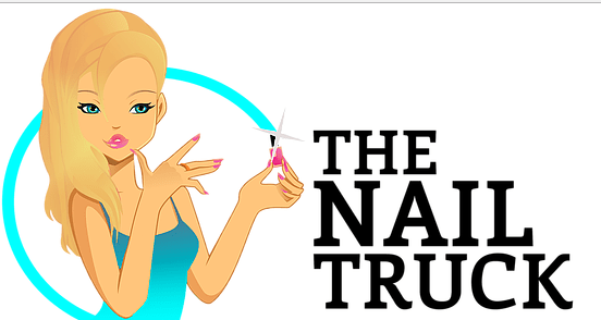 The Nail Truck Mobile Salon's adorable logo