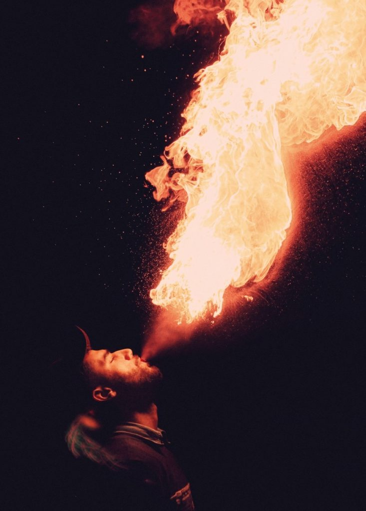 event planning - fire eater