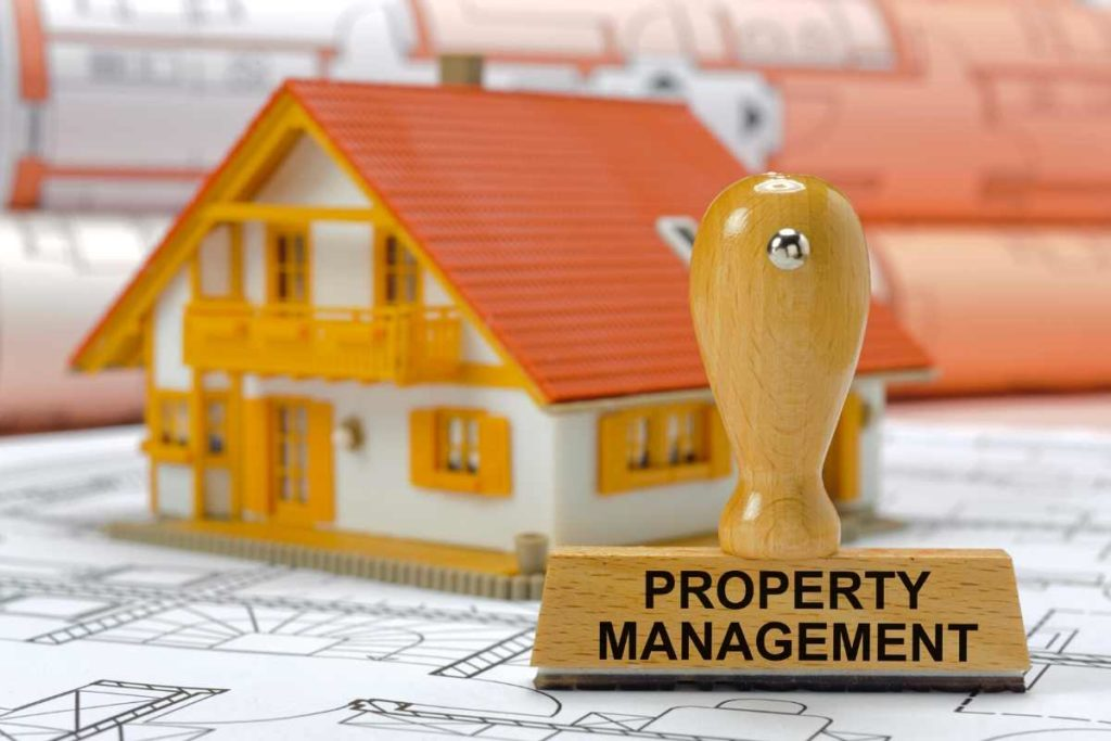 service based business ideas in real estate - property management stamp