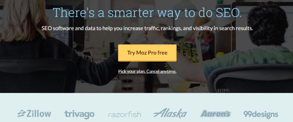 Moz, a digital marketing tool