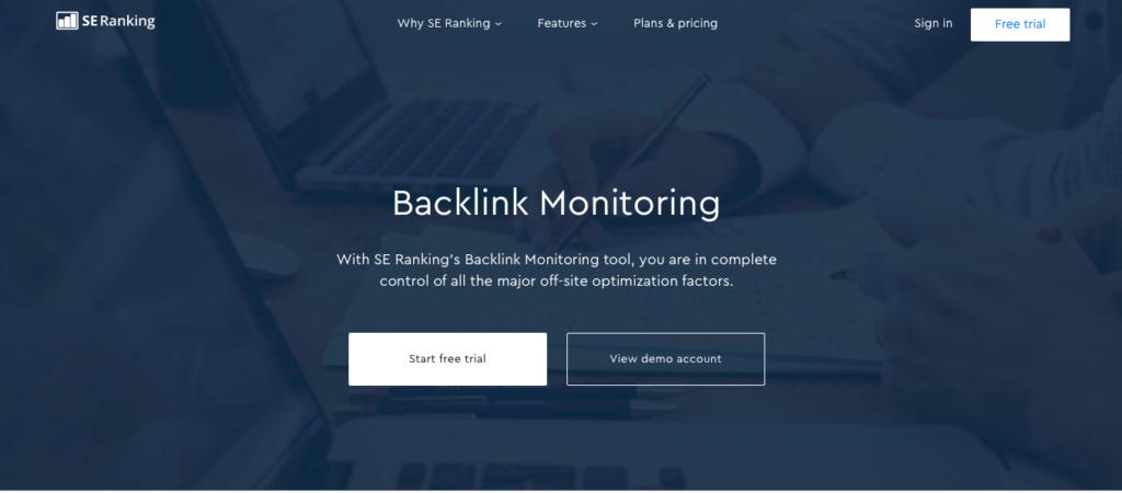 SE Ranking Backlink Monitoring
